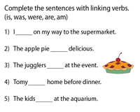 Linking Verbs | is, am, was, were, are