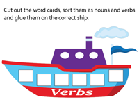 Sort as Nouns and Verbs | Cut and Paste