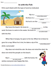 Fill in the Blanks Story - Passage 3