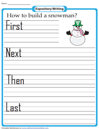 Expository Writing Prompts for Grade 1