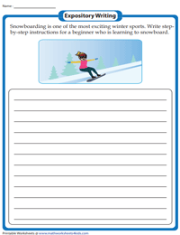 Expository Writing Prompts for Grade 5