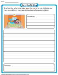 Narrative Writing Prompts for 2nd Grade
