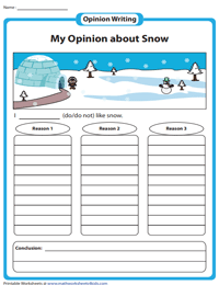 Second Grade Opinion Writing Prompts