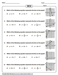 MCQ Linear Equation