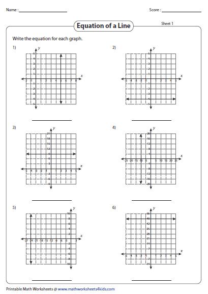 graphing linear equation worksheets. Black Bedroom Furniture Sets. Home Design Ideas