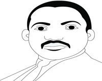 Color the picture of Martin Luther King