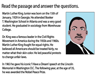Reading Comprehension | Martin Luther King