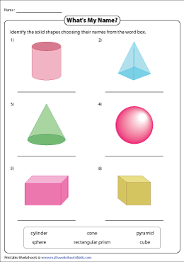 Identifying Basic 3D Shapes