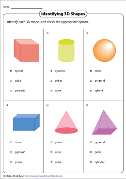 Identifying Basic 3D Shapes | MCQ