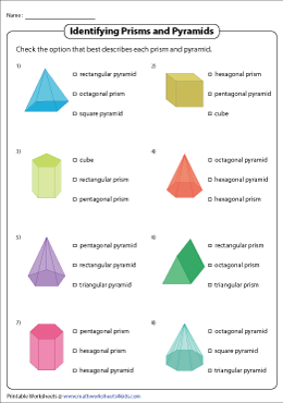 Identifying and Labeling Prisms and Pyramids | MCQ
