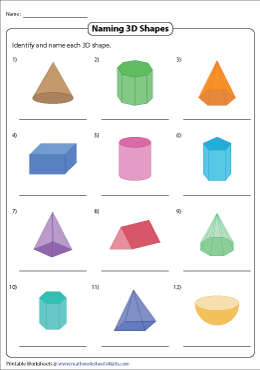 Naming 3D Shapes | Standard