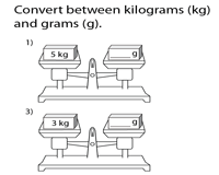 Conversion between Gram and Kilogram | Balance Scales