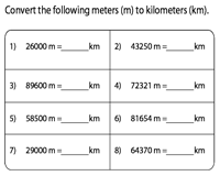 Conversion from Meter to Kilometer