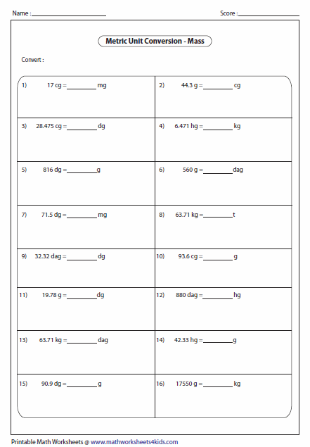 Weight conversion worksheets 4th grade