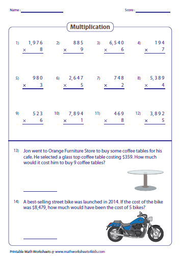 math worksheet : multiplying large numbers worksheets : 1 Digit Multiplication Worksheets
