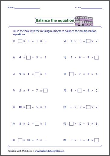 Number Names Worksheets » Beginners Multiplication - Free ...