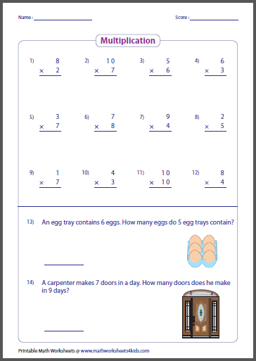math worksheet : basic multiplication worksheets : Easy Multiplication Worksheets For Beginners