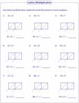 math worksheet : lattice multiplication worksheets and grids : Lattice Multiplication Worksheets