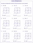 math worksheet : lattice multiplication worksheets and grids : Lattice Multiplication With Decimals Worksheets