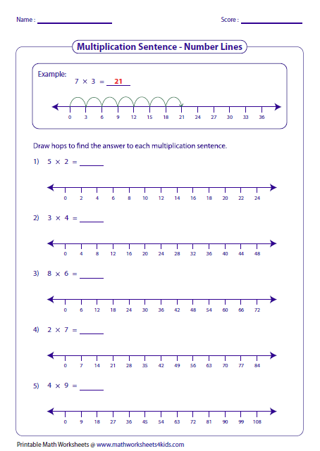 Drawing Lines For Multiplication : Multiplication models worksheets