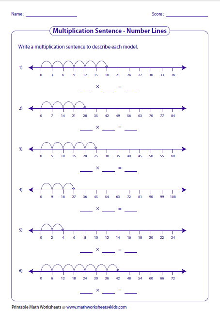 Printables Number Sentence Worksheets 2nd Grade multiplication models worksheets writing sentences number lines