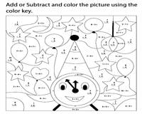 Color by Addition and Subtraction