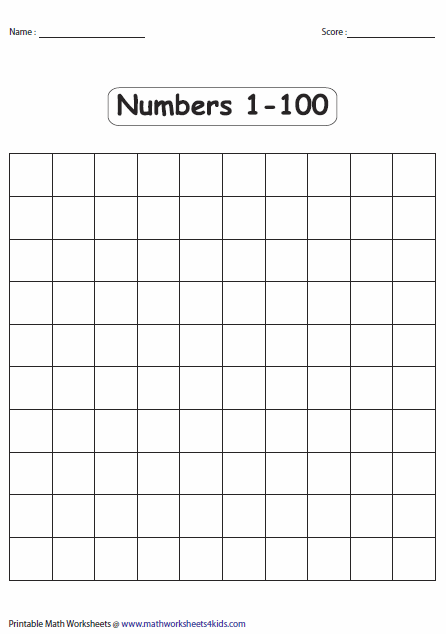 Candid image for blank hundreds chart printable