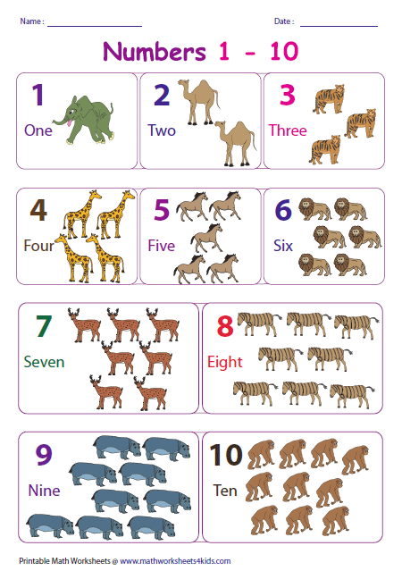 Number Names Worksheets number chart for kindergarten : Number Charts
