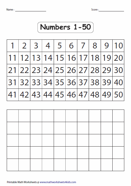 Reading and Writing Numbers