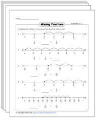 Number Line: Subtraction Worksheets