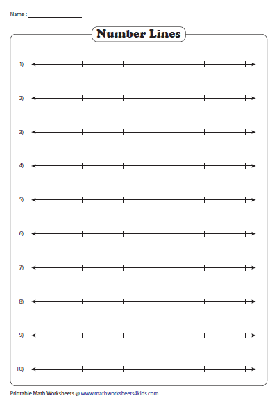 Number Line Teacher Templates