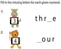 Missing Letters: 1 to 20