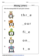 Number Names Worksheets | Writing Numbers in Words