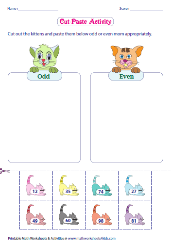 Odd and Even Number - Charts and Activities