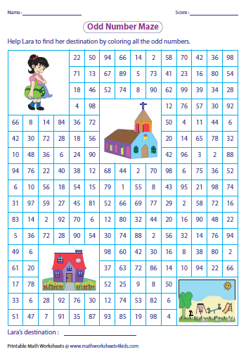 odd and even numbers maze
