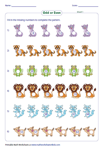 Free Worksheets : complete the pattern worksheets 4th grade ...