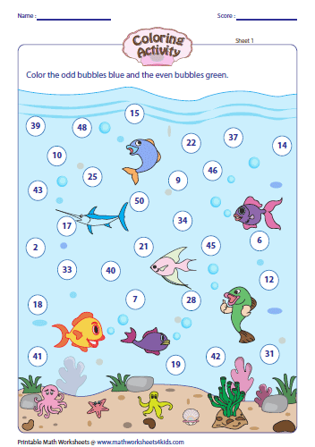 Odd and Even Numbers: Coloring Activity