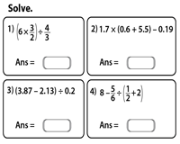 order of operations worksheets basic pemdas fractions and decimals