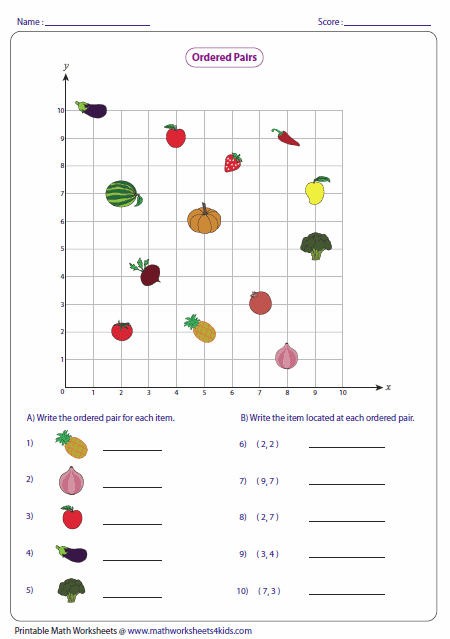 Coordinate Plane Worksheets: Ordered Pairs and Coordinate Plane Worksheets,