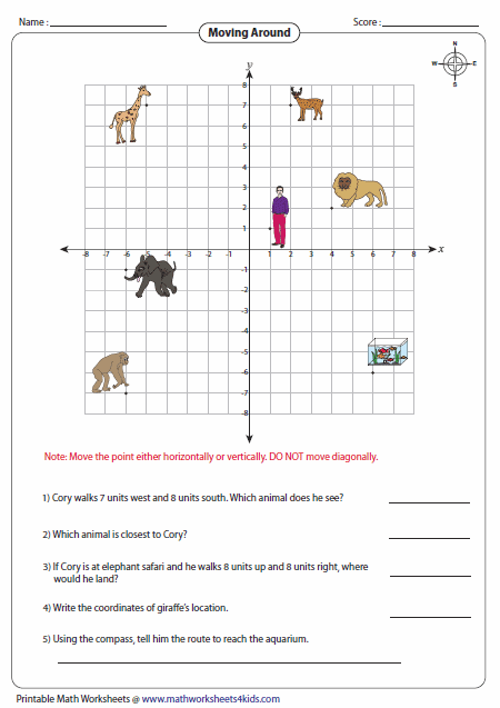 Worksheets Ordered Pair Worksheets ordered pairs and coordinate plane worksheets moving around the points