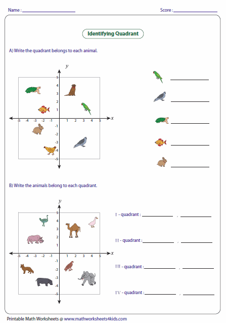Printables Ordered Pairs Worksheet ordered pairs and coordinate plane worksheets quadrants for beginners