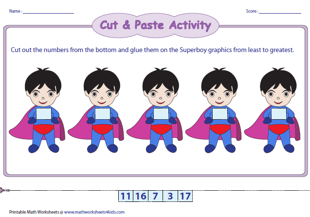 Worksheet Ordering Numbers Worksheets ordering numbers worksheets superboy theme
