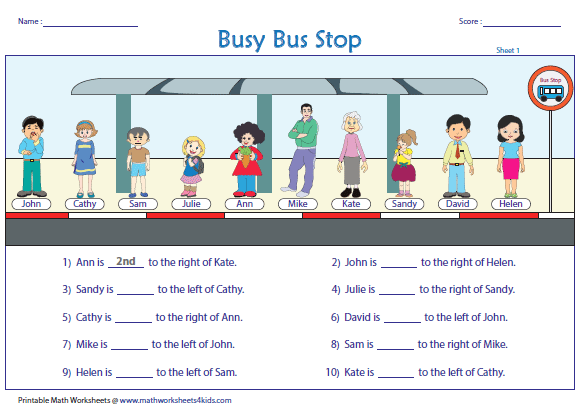 Ordinal Numbers Worksheets and Charts – Ordinal Number Worksheets for Kindergarten