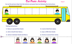 Ordinal numbers: Cut-paste Activity