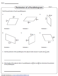 Perimeter of a Parallelogram | Fractions
