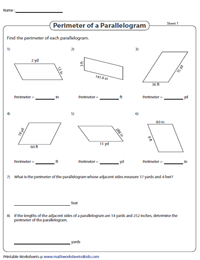 Perimeter of Parallelograms | Unit Conversion