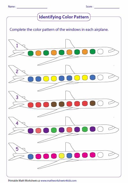 Pattern Worksheets : easy pattern worksheets for kindergarten Easy ...