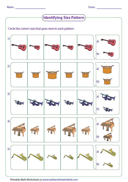 Number Names Worksheets simple patterns worksheets : Pattern Worksheets