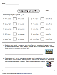 Word Problems: Comparing Quantities