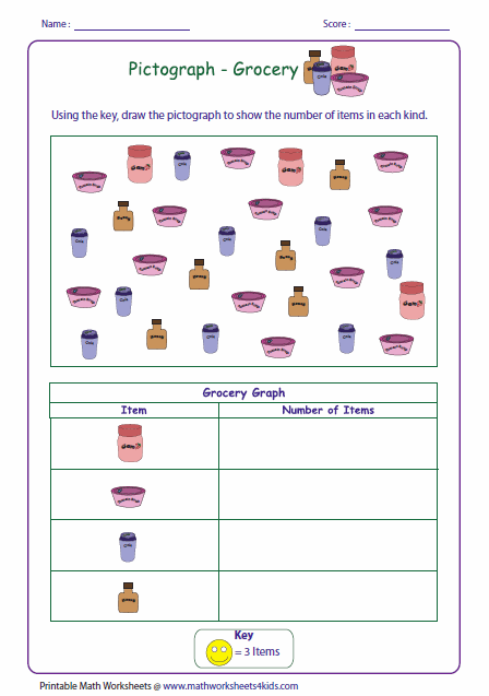 Picture graphs worksheets, Graphing math worksheets